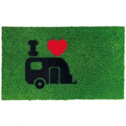 Fußmatte Green Flock Wohnwagen 40 x 60 cm