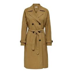 ONLY Klassischer Langer Trenchcoat Damen Braun Female S
