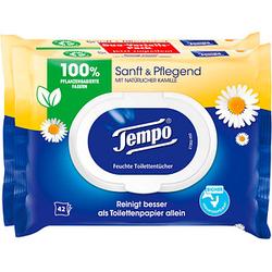 Tempo Feuchttücher Sanft & Pflegend Duo-Pack 2x 42 Tücher