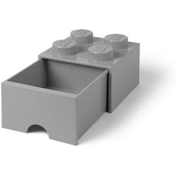 Room Copenhagen Aufbewahrungsbox Lego - Aufbewahrungsbox im Legostein Design mit einer Schublade - grau
