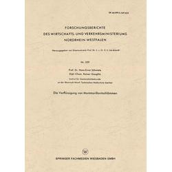 Die Verflüssigung von Montmorillonitschlämmen als Buch von Hans-Ernst Schwiete