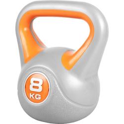 GORILLA SPORTS Kettlebell Kettlebell Stylish Kunststoff 8 kg, 8 kg grau