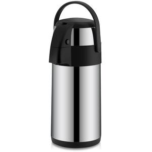 3L Airpot Edelstahl Pumpkanne Isolierkanne Thermoskanne Pump Pot Isolierkanne mit 12 Stunden Wärmespeicherung und 24 Stunden Kältespeicherung für Tee Kaffee