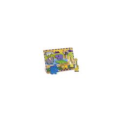Melissa & Doug Steckpuzzle Holzklotz-Puzzle Safaritiere, 8 Teile, Puzzleteile