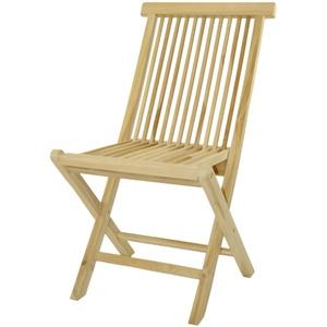 DIVERO Klappstuhl Teakstuhl Gartenstuhl Teak Holz Stuhl für Terrasse Balkon Wintergarten unbehandelt massiv klappbar natur