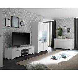 Wohnwand in Weiß modern (3-teilig)