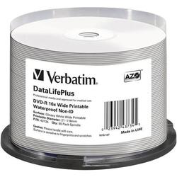 Verbatim 43734 DVD-R Rohling 4.7GB 50 St. Spindel Bedruckbar