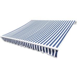 Anself Gelenkarmmarkise Markise Blau & Weiß 6mx3m ohne Rahmen