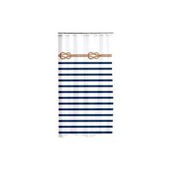 dynamic24 Duschvorhang Breite 180 cm, Textil Wannenvorhang Motiv Marina 180x200 Dusche Vorhang Badewannenvorhang maritim