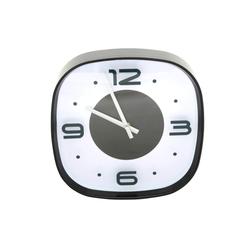 Wanduhr 30 cm rund Küchenuhr Bürouhr Uhr 3 D Effekt schwarz