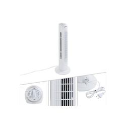 Arebos Turmventilator 50W weiß, mit 60° Oszillationwinkel