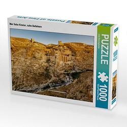 Mar Saba Kloster, nahe Betlehem Lege-Größe 64 x 48 cm Foto-Puzzle Bild von Jens Benninghofen Puzzle