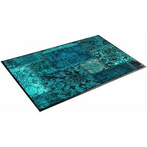 Läufer Vintage Patches, wash+dry by Kleen-Tex, rechteckig, Höhe 7 mm blau 75 cm x 120 cm x 7 mm