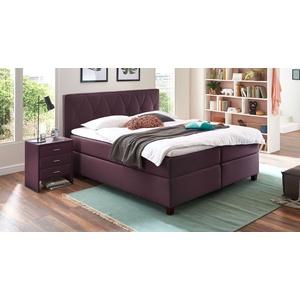 Boxspringbett mit wählbarer Matratze 120x200 cm violett - Midway