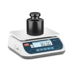 TEM - Tischwaage 30 kg/10 g geeicht Marktwaage Ladenwaage LCD Akku 100 h