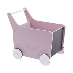 CHILDHOME Puppenwagen Holz-Puppenwagen Stroller, Holz, rosa rosa