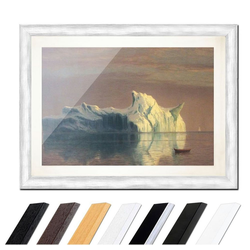 Bilderdepot24 Wandbild, Albert Bierstadt - The Iceberg - Der Eisberg bunt 30 cm x 20 cm