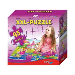 Noris Puzzle Bodenpuzzle Feenwelt 45 Teile, Puzzleteile