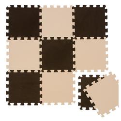 LittleTom Puzzlematte Baby Puzzlematte ab 0 Kinder Spiel Krabbelmatte, 10 Puzzleteile, EVA Krabbelmate Braun Beige