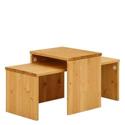 Holztisch Set aus Kiefer Massivholz modern (zweiteilig)