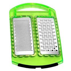Genius Küchenreibe NEU Genius -Doppelreibe Fein & Grob Küchenreibe Reibe Zitrusreibe Käsereibe Grün