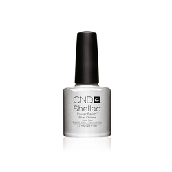 CND Nagellack Shellac Color Coat Silver Chrome