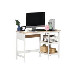 HOMCOM Schreibtisch 2-in-1 Schreibtisch mit 2 Fächern
