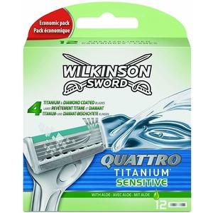 12 Wilkinson Quattro Titanium Sensitive Rasierklingen