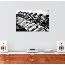 Posterlounge Wandbild, Gewichte in einem Fitnessstudio 30 cm x 20 cm