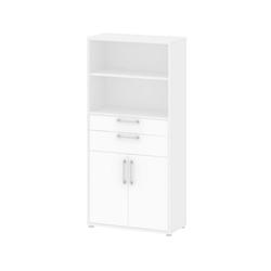 ebuy24 Regal, Mehrzweckregal Prisme Büro Aufbewahrung 2 Türen, 2 Schubladen und