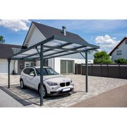 SolidComfort Premium Carport 3094 x 2300/2000 x 5620 mm Anthrazit