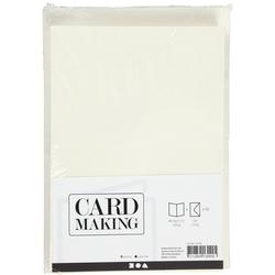 A6 Karten/Umschläge - Creme - 50 Sets