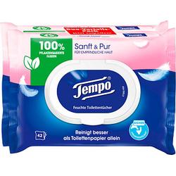 Tempo Feuchttücher Sanft & Pur Duo-Pack 2x 42 Tücher