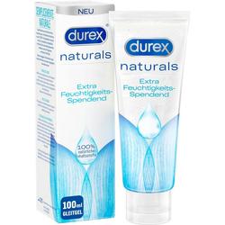 durex Gleitgel Naturals Extra Feuchtigkeitsspendend, 100% natürlichen Inhaltsstoffe