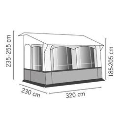 Wohnwagen-Vorzelt Casa Royal S 390 Caravan-Teilzelt