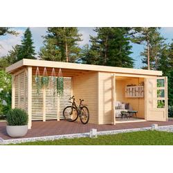 Karibu Gartenhaus Arnis 4, BxT: 592x238 cm, (Set)