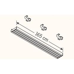 Vorhangschiene weiß 3-lfg.(B 165 cm)