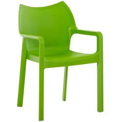 CLP Gartenstuhl Diva, Kunststoff-Gartenstuhl mit Armlehnen grün