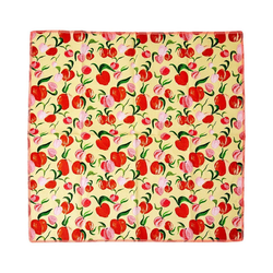 "rice Stoffserviette 2er-Set Baumwoll-Servietten ""Peach"", 40x40cm orange"