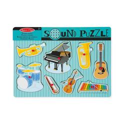 Melissa & Doug Puzzle Soundpuzzle aus Holz - Musikinstrumente, 8 Teile, Puzzleteile