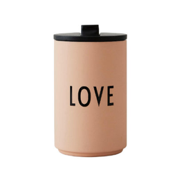Design letters Thermobecher in nude LOVE