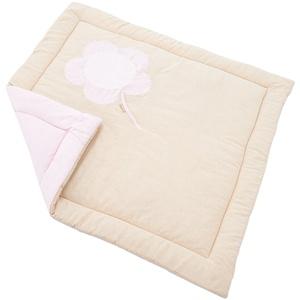 Hoppekids Spieldecke wendbar für MARIE Laufstall Fairytale Flower Textilie, 100% Baumwolle, Stoff, rosa, 100 x 100 x 1 cm