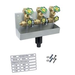 Kompakt-Wasserverteiler, Zulauf 1 1/4'' mit 3 Abgängen