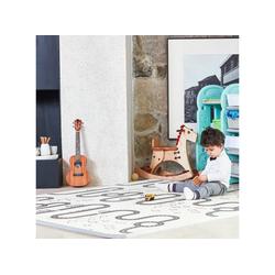 Baby Vivo Spielmatte Spielmatte / Spielteppich für Kinder doppelseitig mit Straße 180 x 150 cm - Kaktus