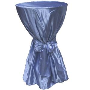 Stoff-Kollektion Satin Stehtischhusse für Stehtische Bistrotische Klapptische mit 70cm Durchmesser (Hellblau)