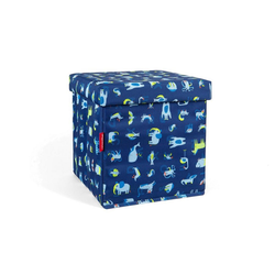 REISENTHEL® Aufbewahrungsbox sitbox Hocker ABC Friends Blue 27 L