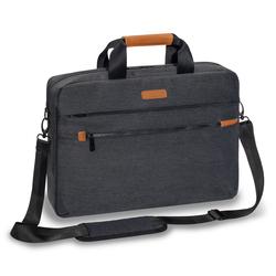 PEDEA Laptoptasche 15,6 Zoll (39,6 cm) ELEGANCE-P Notebook Umhängetasche mit Tablet Fach, grau