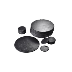 MALACASA Servierplatte Nature.Slate, Naturstein, (Set, 32-tlg), 16 Schieferplatte mit 16 Schieferuntersetzer