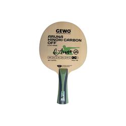 Gewo Tischtennisschläger GEWO Holz Aruna Hinoki Carbon OFF Griffform-gerade
