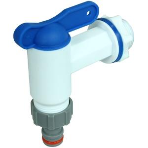 Auslaufhahn für Regentonne Ersatz-Hahn 3/4 Wasserhahn für Regenfass Wassertonnen